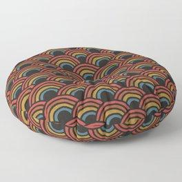 Bold Rainbow Pattern Floor Pillow