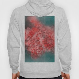 Abstract Red Flowers Hoody