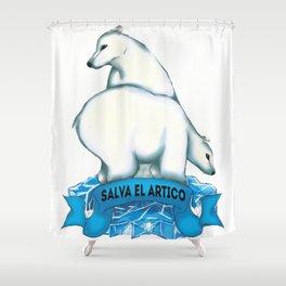 Salva el Ártico | Osos Shower Curtain