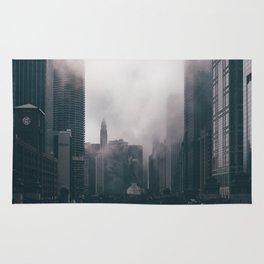 Chicago Shrouded in Fog Rug