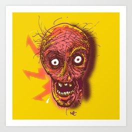 Hungry Zombie Art Print