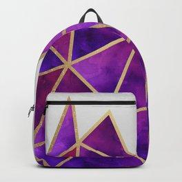 Purple & Gold Geometric Backpack