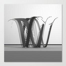 Wavey Letter W Canvas Print
