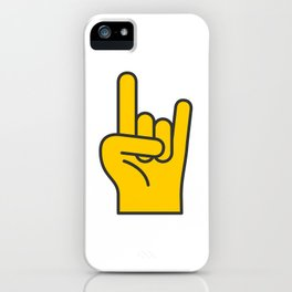 Hans Gesture - The Horns iPhone Case
