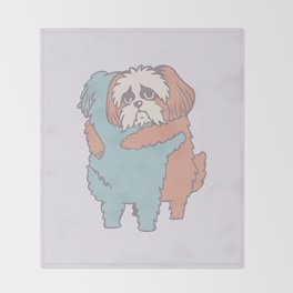 Shih Tzu Hugs Throw Blanket