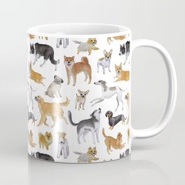 Dogs Fun Watercolor Coffee Mug