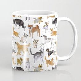 Dogs Fun Watercolor Coffee Mug
