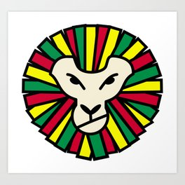 Lion Rastafari Art Print
