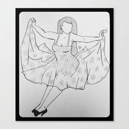 Falling Femme. Canvas Print
