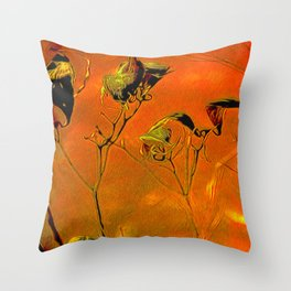 Dry Pods Throw Pillow