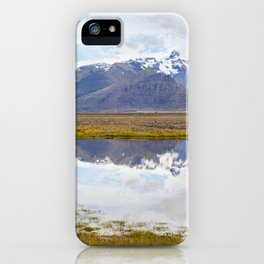 Iceland Mountain Landscape Panorama iPhone Case