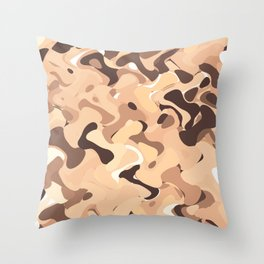 Mochaccino mornings, coffee lovers know Throw Pillow