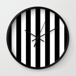 Vertical Stripes (Black/White) Wall Clock