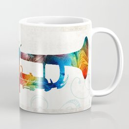 Colorful Trumpet Art Color Fusion By Sharon Cummings Coffee Mug