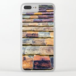 traditional vintage clay tiles – vernacular architectural building materials Clear iPhone Case
