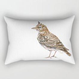 Galerida cristata, Crested lark traditional artwork Rectangular Pillow