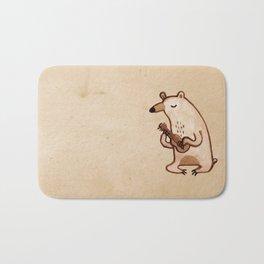 Ukulele Bear Bath Mat