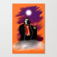 dracula Canvas Prints featuring Dracula by JT Digital Art