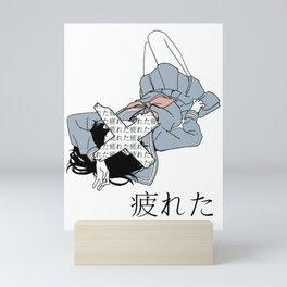 TIRED - SAD JAPANESE ANIME AESTHETIC Mini Art Print