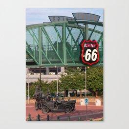 Cyrus Avery Plaza - Tulsa Oklahoma Route 66 Canvas Print