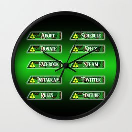 Triforce Profile Set Wall Clock