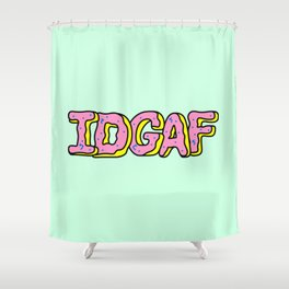 IDGAF Pink Donuts Shower Curtain