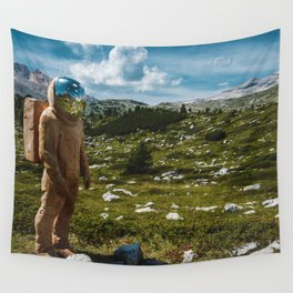 The Spaceman (Color) Wall Tapestry