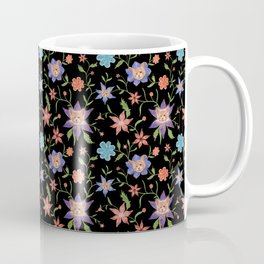 Multicolor flowers with cats Coffee Mug