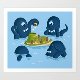 The mystery of Easter Island Art Print