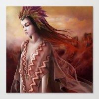navajo Canvas Prints featuring Navajo by Nicolas Jamonneau