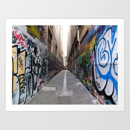 Melbourne Alley Art Print