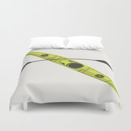 Kayak - Lime Green Duvet Cover