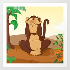 Three wise monkeys 2/3 Art Print