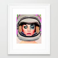 space jam Framed Art Prints featuring Space Jam by Katy Hirschfeld