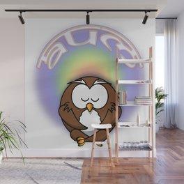 meditati-owl Wall Mural