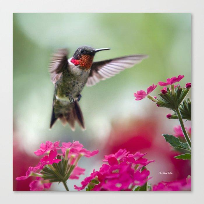 Ruby Garden Jewel Canvas Print