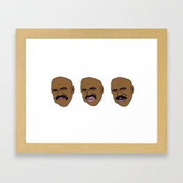 Three Steve Harveys Framed Art Print