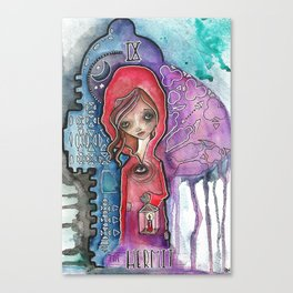 The Hermit - Tarot Inspired Watercolor Canvas Print