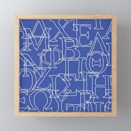 Greek Alphabet Framed Mini Art Print