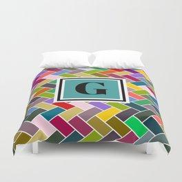 G Monogram Duvet Cover