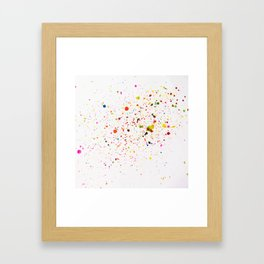 RAINBOW INK SPLOTCHES Framed Art Print
