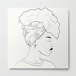 HEAD WRAP Metal Print