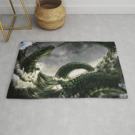 Jormungandr the Midgard Serpent Rug