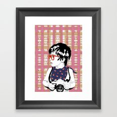 Red Glasses Framed Art Print