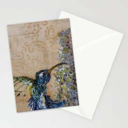 Yellow Hummingbird Stationery Cards