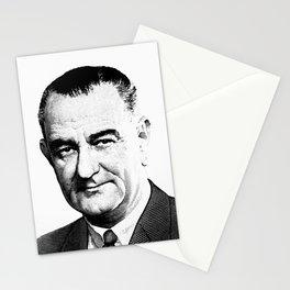 President Lyndon Johnson Graphic Stationery Cards