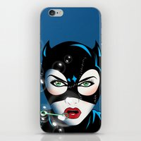 catwoman iPhone & iPod Skins featuring Catwoman by mark ashkenazi
