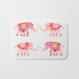 HAPPY ELEPHANTS - WATERCOLOR Bath Mat