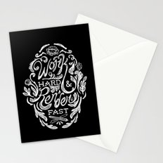 Work Hard & Render Fast Floral Stationery Cards
