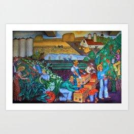 Coit Tower 'Orange Grove mural,' San Francisco, California Art Print